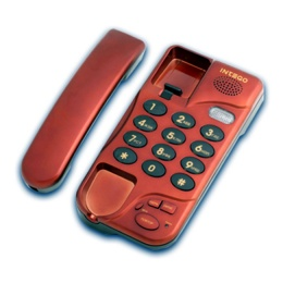 Телефон INTEGO TX-380 красный металл