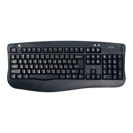 Клавиатура Oklick 340M black стандарт (PS/2+USB)