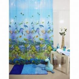 Штора для ванной EVA 1045-3 Цветы 180*200