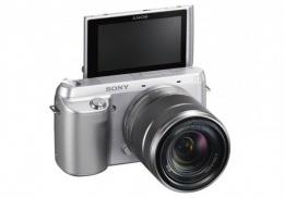 Цифровой фотоаппарат Sony NEX-F3K KIT 18-55 серебро