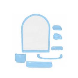 НАБОР для ванной  Елена(7предм) голубой