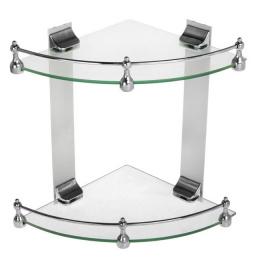 Полка для ванн.металл-стекло 24*33*30 см 1128799