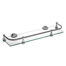 Полка для ванн.металл-стекло 40*12*4 см 1128798