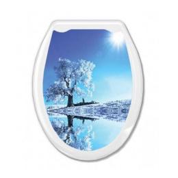 """Сиденье для унитаза """"Универсал Декор"""" белое дерево"""
